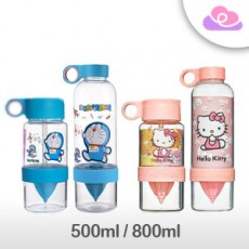 Doraemon/ Hello Kitty DIY Juice Drinking Bottle 500ml/800ml