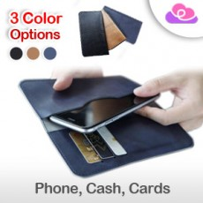 "Original Universal Multifunctional Wallet Phone Sleeve Case Pouch Cover - For 4.3"" -6"" Smartphone 手机收纳钱包保护套 /卡包 - 4.3寸-6寸智能手机适用"