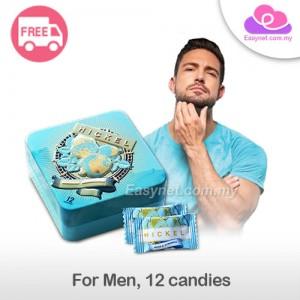Hickel Mass & Strength Candy Energy Supplement For Men 12 Candies 风流果男人圣品壮阳保健糖12粒