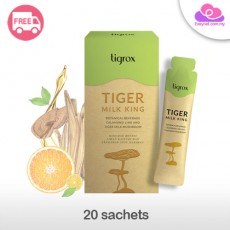 Tigrox Tiger Milk King Lung Health Care Botanical Beverage 20 Sachets 虎乳芝老虎奶护肺保健保养饮品20包