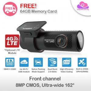 Blackvue DR900X-1CH 4K UHD single-channel Full HD Wifi, Cloud, GPS, Parking Mode Car DVR Safety Recorder Camera DashcamX Series 单项全高清内置GPS无线上停车模式网云端连接 汽车行车安全记录器