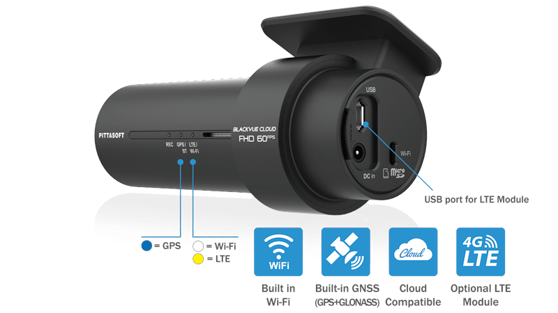 Blackvue DR750X-1CH Full HD single-channel SONY STARVIS™, Wifi, Cloud, GPS, Parking Mode Car DVR Safety Recorder Camera Dashcam