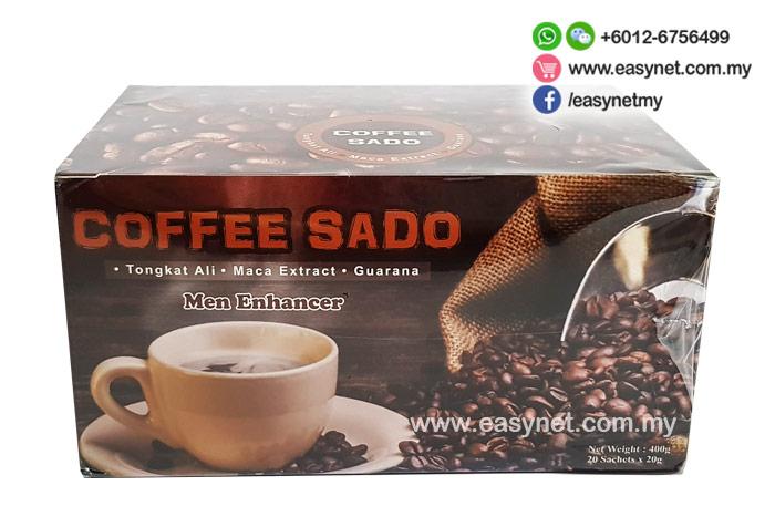 Coffee Sado Men Enhancer Tongkat Ali Drink 20 sachets 佐渡男性男人男士保健壮阳延迟持久耐久强身健体东哥阿里能量咖啡 20包