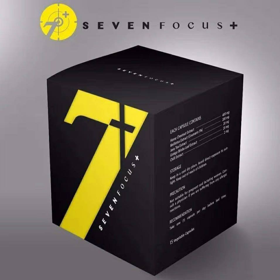 7 Seven Focus Leg Slimming New Packaging (15 capsules) 7 Focus 瘦腿王牌胶囊 新包装(15粒)