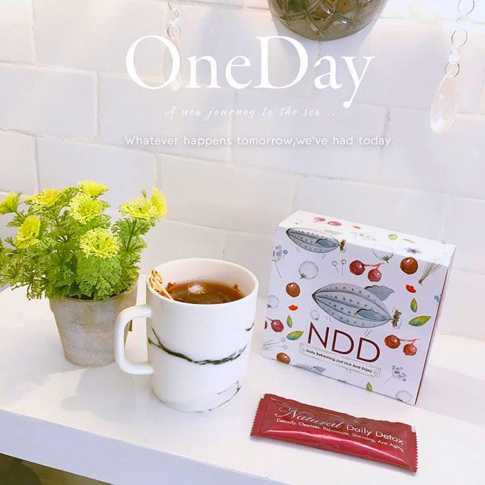 Natural Daily Detox (NDD) Drink 升级版新包装NDD法国排毒葡萄益生菌饮料 18 sachets
