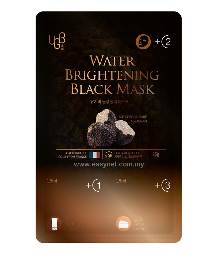 UGB (UGBang) Water Brightening Black Mask (Dong-An Series) 10pcs/Box  UGB 童颜系列黑松露水光黑面膜 10片/盒