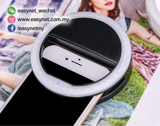 Beauty Flash Pro LED Selfie Ring Light 自拍光环闪美肌光灯圈夹 - 适合多数手机 手提电脑 iPad