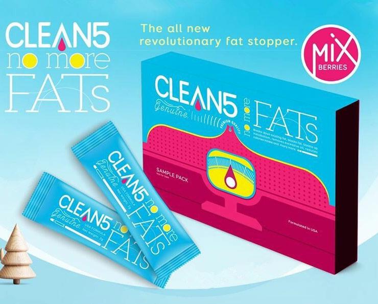 CLEAN 5 No More Fats Blocks Fat (14 sachets) CLEAN 5 排油王 (14包)