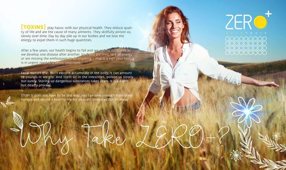 Zero + zero+ plus Toxin Detox Drink Powder 15 sachets x12g Zero+ 零毒素排毒保健饮料 15包x12g